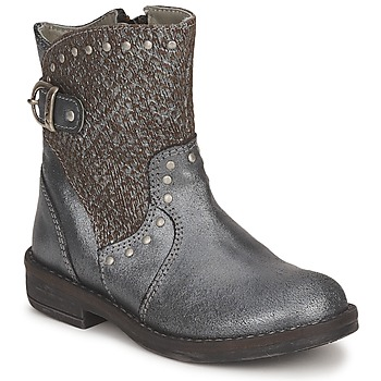 Shoes Girl Mid boots Noel FRANCA Silver