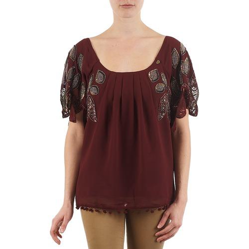 material Women short-sleeved t-shirts Lollipops POCAHONTAS TOP Bordeaux