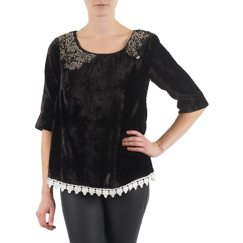 material Women Long sleeved shirts Lollipops PILOW TOP Black