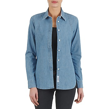 material Women Shirts Kulte CHEMISE CIRCUIT 101826 BLEACH Blue