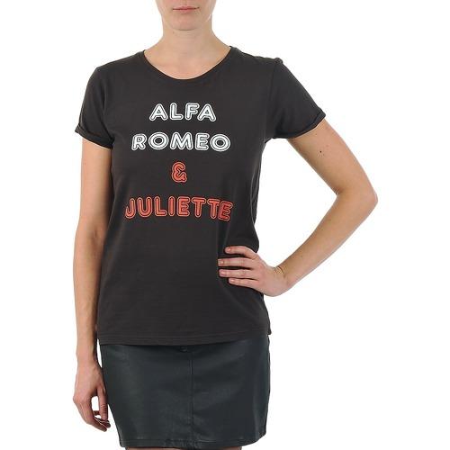 material Women short-sleeved t-shirts Kulte LOUISA ROMEO 101950 NOIR Black