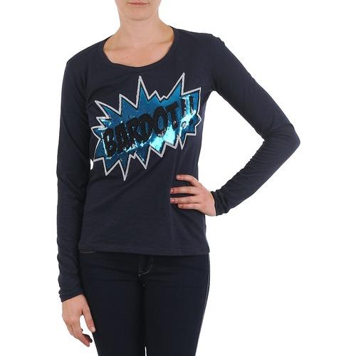 material Women Long sleeved shirts Brigitte Bardot BB43130 Blue