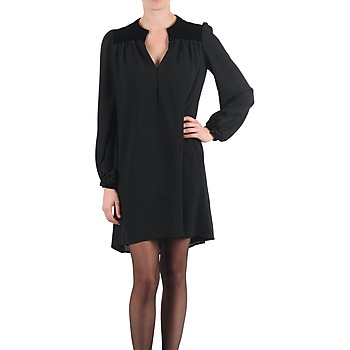 material Women Short Dresses Brigitte Bardot BB43119 Black
