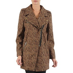 material Women coats Brigitte Bardot BB43110 Brown / Leopard