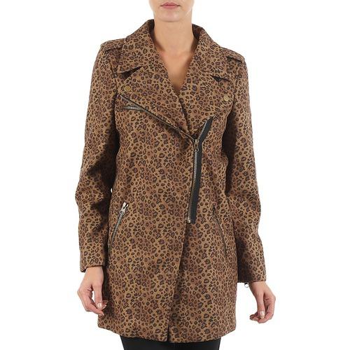 material Women coats Brigitte Bardot BB43110 Brown / Leopard
