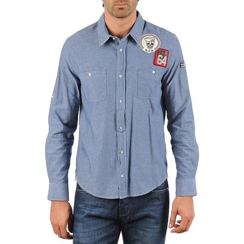 material Men long-sleeved shirts Mr Marcel NEBRASKA Blue