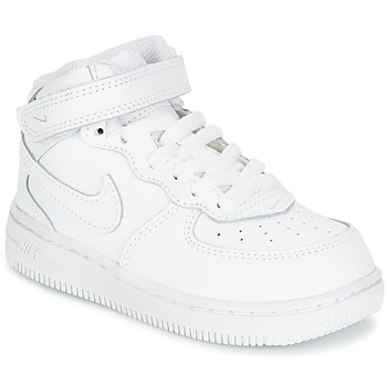 Shoes Children High top trainers Nike AIR FORCE 1 MID TODDLER White
