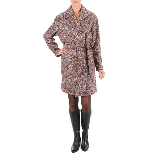 material Women coats Lola MORANDI IPERYON Bordeaux