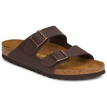 Shoes Men Mules Birkenstock ARIZONA Brown / Dark