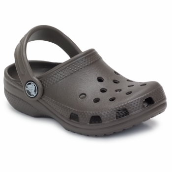 Shoes Children Clogs Crocs KIDS CLASSIC CAYMAN Chocolate
