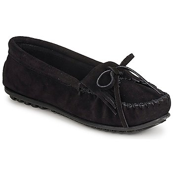 Shoes Women Loafers Minnetonka KILTY SUEDE MOC Black