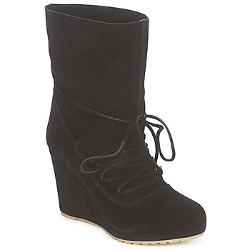 Shoes Women Ankle boots Chinese Laundry PENNY CROSSING Suede /  black