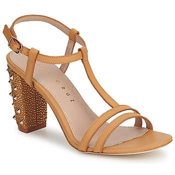 Shoes Women Sandals Lola Cruz STUDDED BEIGE / TAN