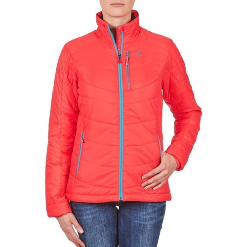 material Women Duffel coats Salomon Jacket INSULATED JACKET W PAPAYA-B Coral