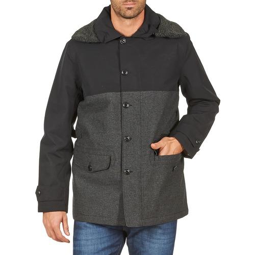 material Men coats Aigle SHERPAFIELD Black / Grey
