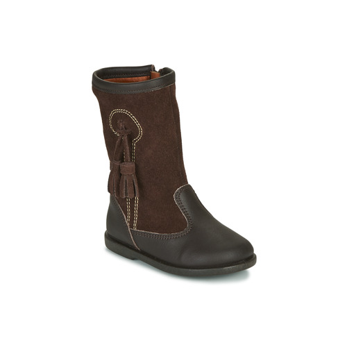 Shoes Girl Boots Citrouille et Compagnie LEVUNE Brown