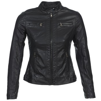 material Women Leather jackets / Imitation leather Moony Mood IDESCUNE Black