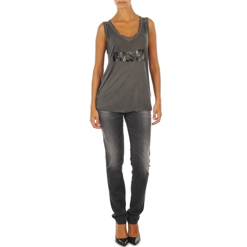 material Women slim jeans Diesel GETLEGG L.32 TROUSERS Grey