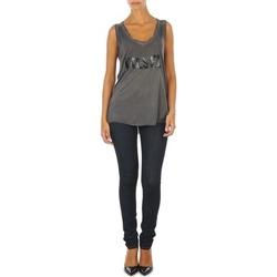 material Women slim jeans Diesel SKINZEE L.32 TROUSERS Blue