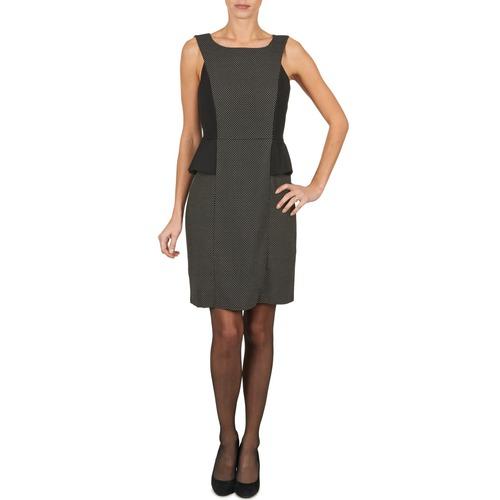 material Women Short Dresses Manoukian PEPLUM Black