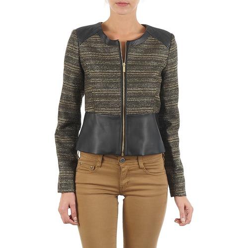 material Women Jackets / Blazers Manoukian QUEELT Black / Gold