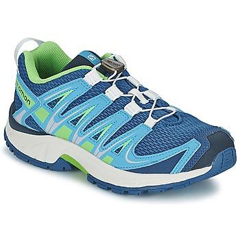 Shoes Children Multisport shoes Salomon XA PRO 3D JUNIOR Blue / Green