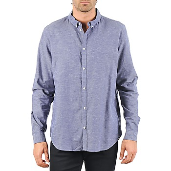 material Men long-sleeved shirts Cheap Monday DAMON BD SHIRT Blue