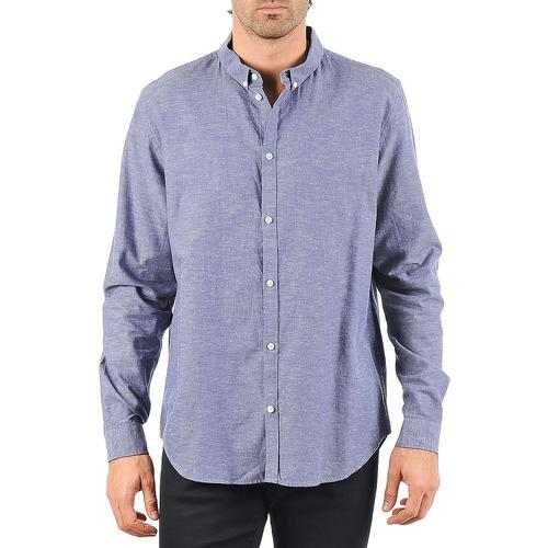 material Men long-sleeved shirts Cheap Monday DAMON BD SHIRT Blue