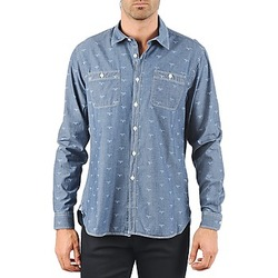 material Men long-sleeved shirts Barbour LAWSON Blue