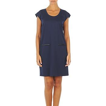 material Women Short Dresses Vero Moda CELINA S/L SHORT DRESS MARINE