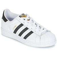 Shoes Boy Low top trainers adidas Originals SUPERSTAR White