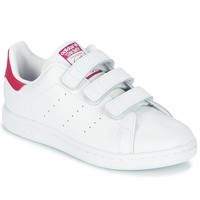 Shoes Girl Low top trainers adidas Originals STAN SMITH CF I White / Pink