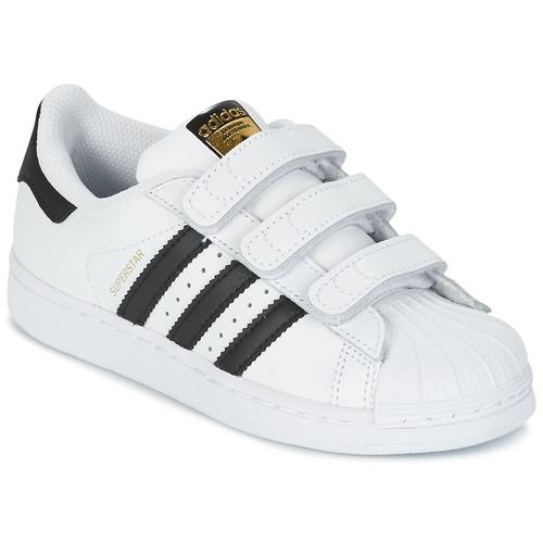 Shoes Children Low top trainers adidas Originals SUPERSTAR FOUNDATIO White / Black