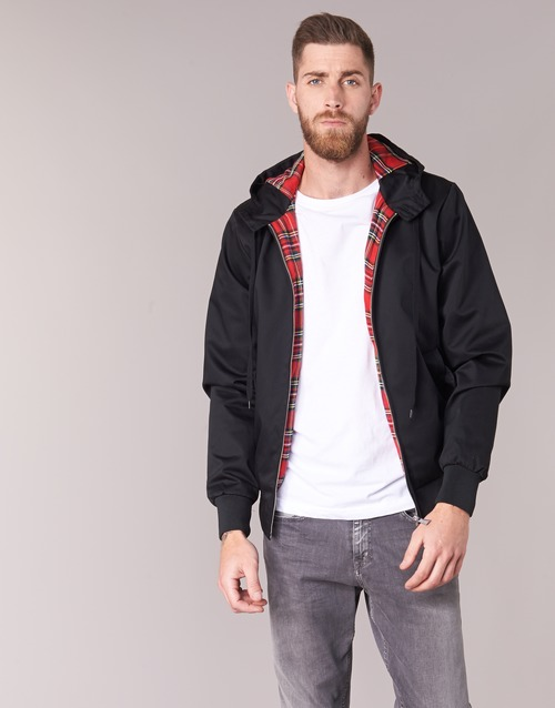 material Men Blouses Harrington HARRINGTON HOODED Black