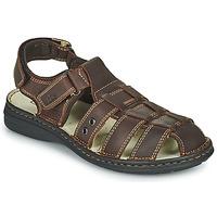 Shoes Men Sandals TBS BARROW Brown