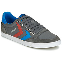 Shoes Men Low top trainers Hummel TEN STAR LOW CANVAS Grey / Blue / Red