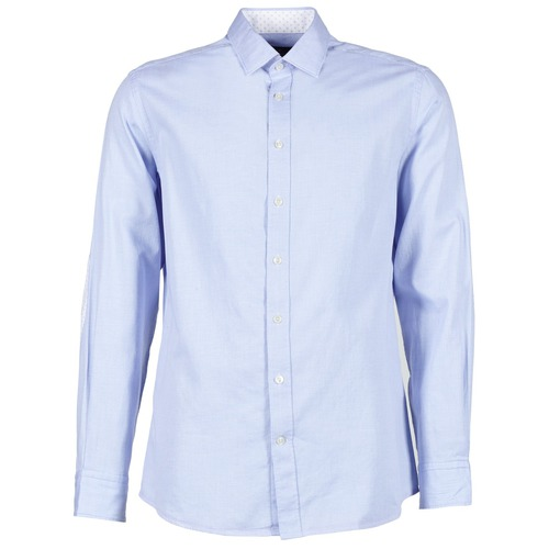 material Men long-sleeved shirts Hackett SQUARE TEXT MUTLI Blue