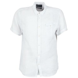 material Men short-sleeved shirts Chevignon C-LINEN White