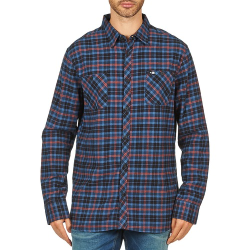 material Men long-sleeved shirts Rip Curl OBSESSED CHECK FLANNEL L/S SHIRT Blue