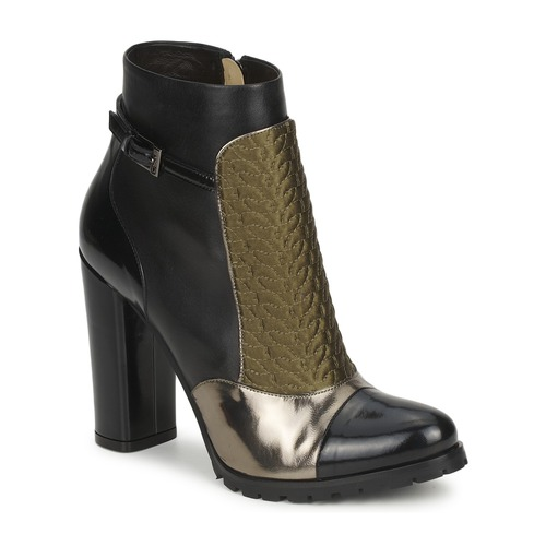 Shoes Women Ankle boots Etro FEDRA Black / Kaki / Silver