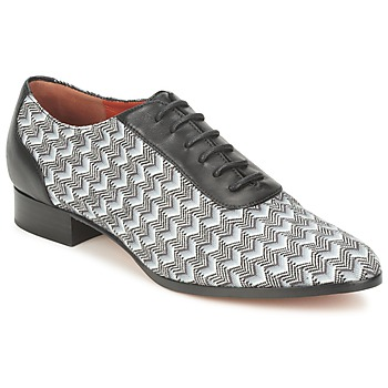 Shoes Women Brogue shoes Missoni WM076 Black / Grey