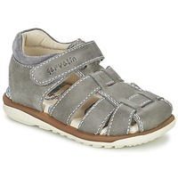 Shoes Boy Sandals Garvalin GALERA Grey
