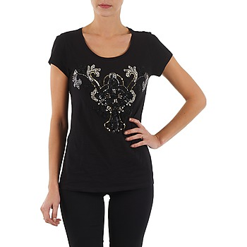 material Women short-sleeved t-shirts S.Oliver T-SHIRT MANCHES COUR Black