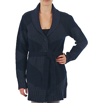 material Women Jackets / Cardigans Gant N.Y. DIAMOND SHAWL COLLAR CARDIGAN Marine