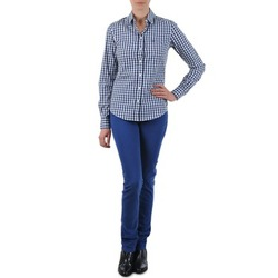 material Women straight jeans Gant N.Y. KATE COLORFUL TWILL PANT Blue