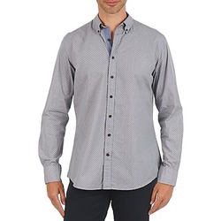 material Men long-sleeved shirts Hackett MEDALLION MULTI BD Blue