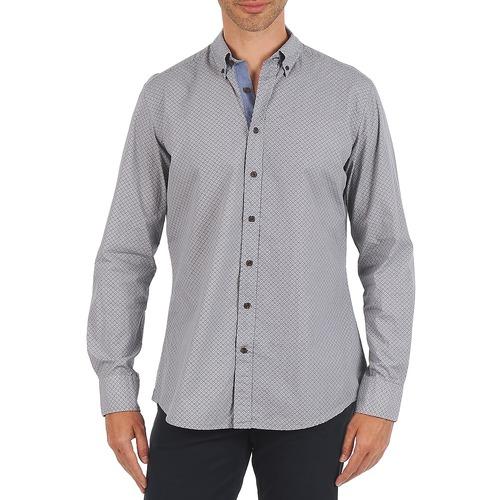 material Men long-sleeved shirts Hackett MEDALLION MULTI BD Blue