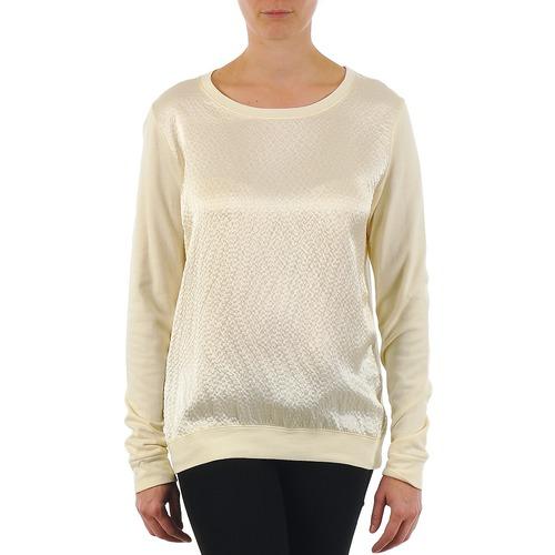 material Women Long sleeved shirts Majestic 237 Ecru