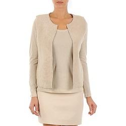 material Women Jackets / Cardigans Majestic 241 Beige