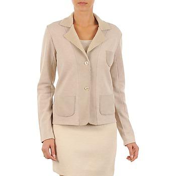 material Women Jackets / Blazers Majestic 244 BEIGE